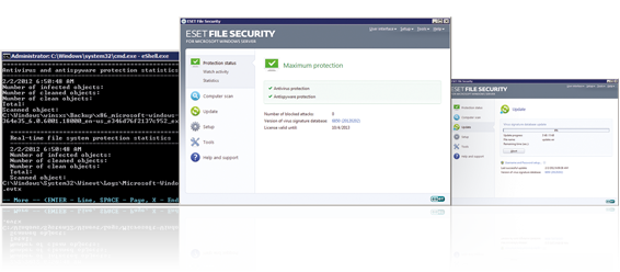 Screenshot Gallery for ESET File Security for Microsoft Windows Server